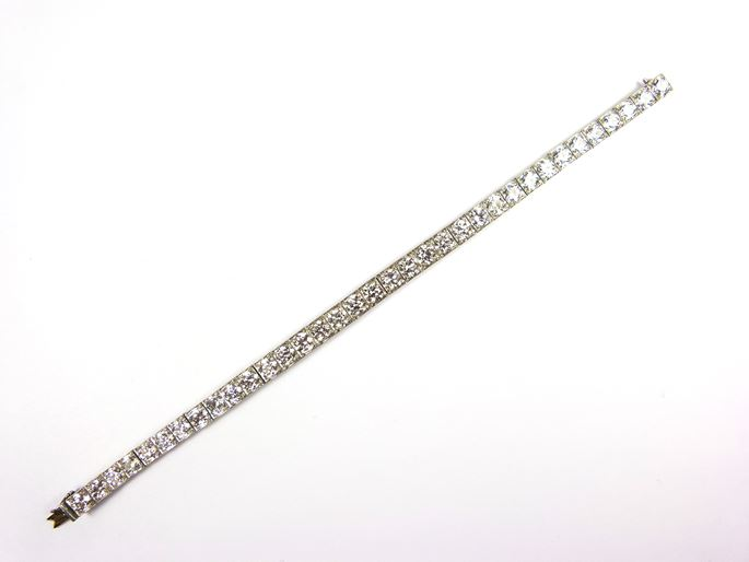 Tiffany & Co.  - Antique diamond line bracelet | MasterArt
